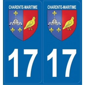 Autocollants Blason Charente-Maritime