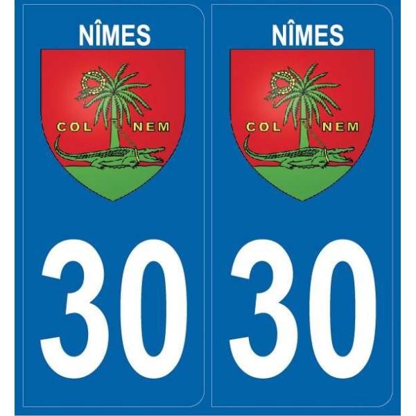 2 stickers city 30 Nîmes