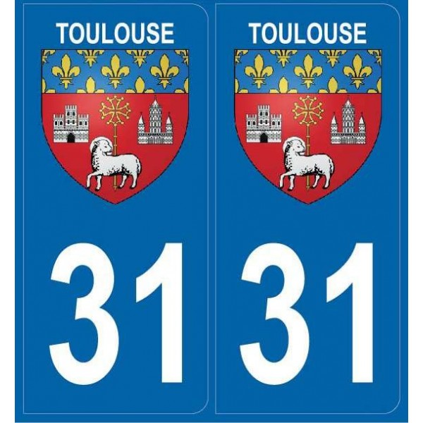 Autocollants Plaques Blason Toulouse