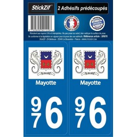 Stickers plaques Mayotte 976