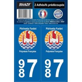 Stickers Plaques Polynésie Française