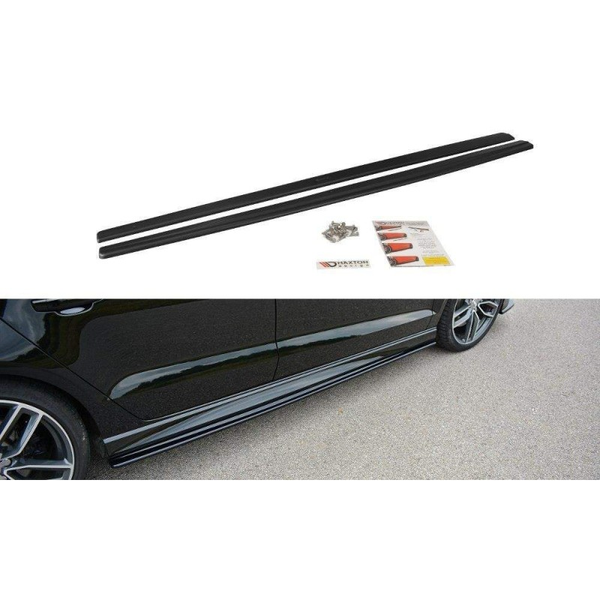 Paire de Diffuseurs Bas de Caisse Audi S3 8V Limousine Facelift