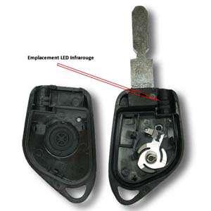 Boitier de clé 406 infrarouge