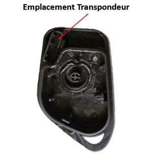 Emplacement transpondeur coque de cle peugeot 406