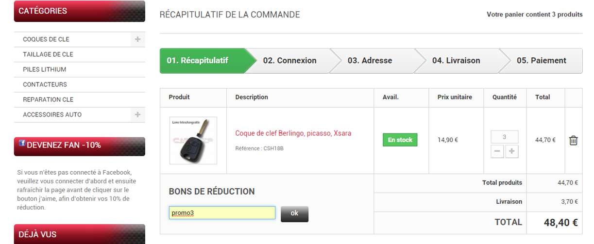 Codes réduction carplip